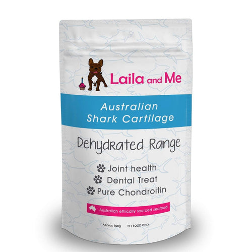 Laila & Me Dehydrated Australian Shark Cartliege - Crunchy Dog Treats 100g