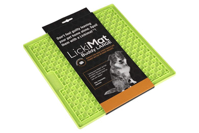 LickiMat Buddy Slow Feeder Mat - Large Green