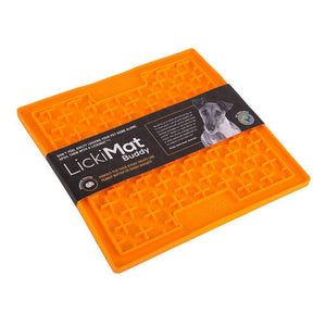 LickiMat Buddy Slow Feeder Mat Orange