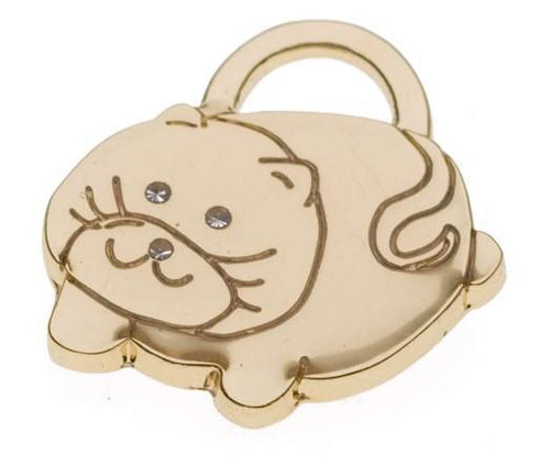 MINI FAT CAT PET ID TAG