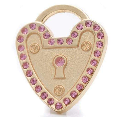 MINI PADLOCK HEART PET ID TAG