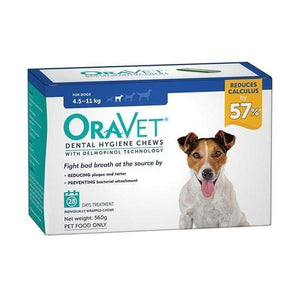 Oravet Plaque & Tartar Control Chews for Small Dogs 4.5-11kg - 3-pack