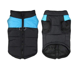 PADDED WATERPROOF DOG JACKET - BLUE MEDIUM