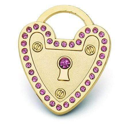 PADLOCK HEART PET ID TAG