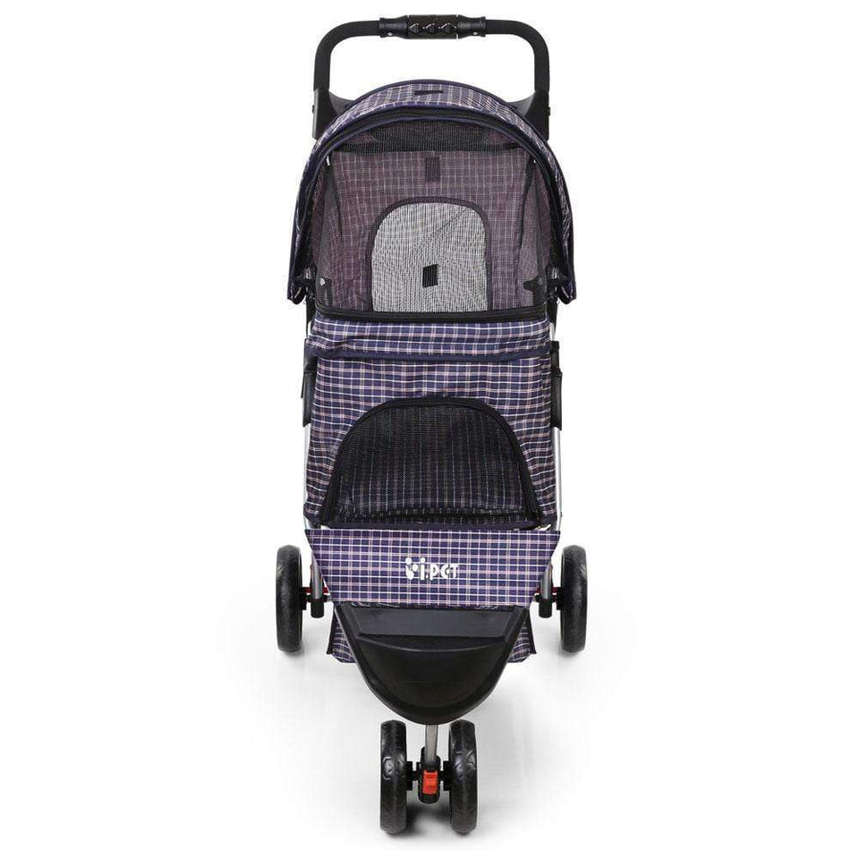 Pet Care 3 Wheel Pet Stroller - Blue