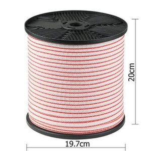 Pet Care Giantz 400m Stainless Steel Polywire Poly Tape Electric Fence