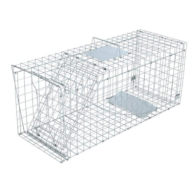 Pet Care Humane Animal Trap Cage 150 x 50 x 53cm  - Silver