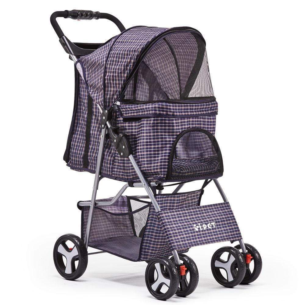 Pet Care Pet 4 Wheel Pet Stroller - Blue