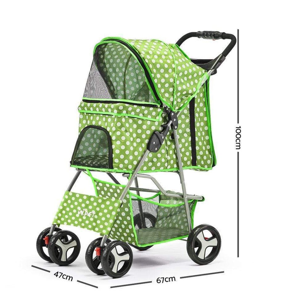 Pet Care Pet 4 Wheel Pet Stroller - Green