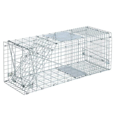 Pet Care Set of 2 Humane Animal Trap Cage 66 x 23 x 25cm  - Silver