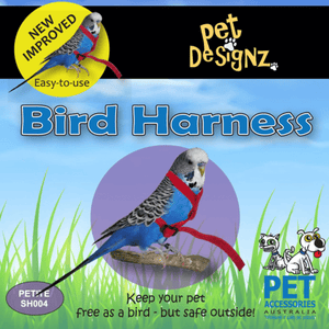Pet Designz Bird Harness - Black