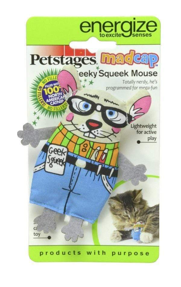 Petstages Madcap Geeky Squeaky Mouse