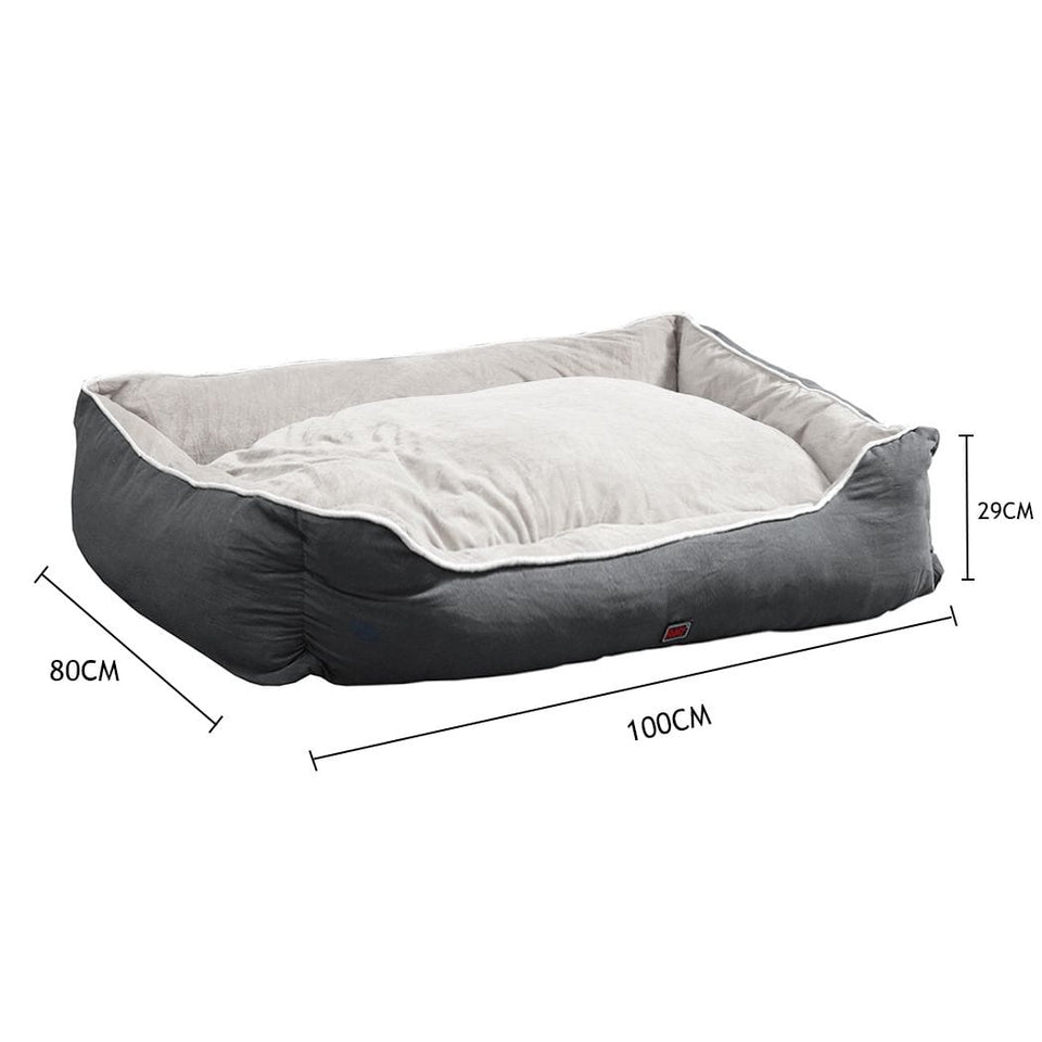 Plush Dog Bed - Grey