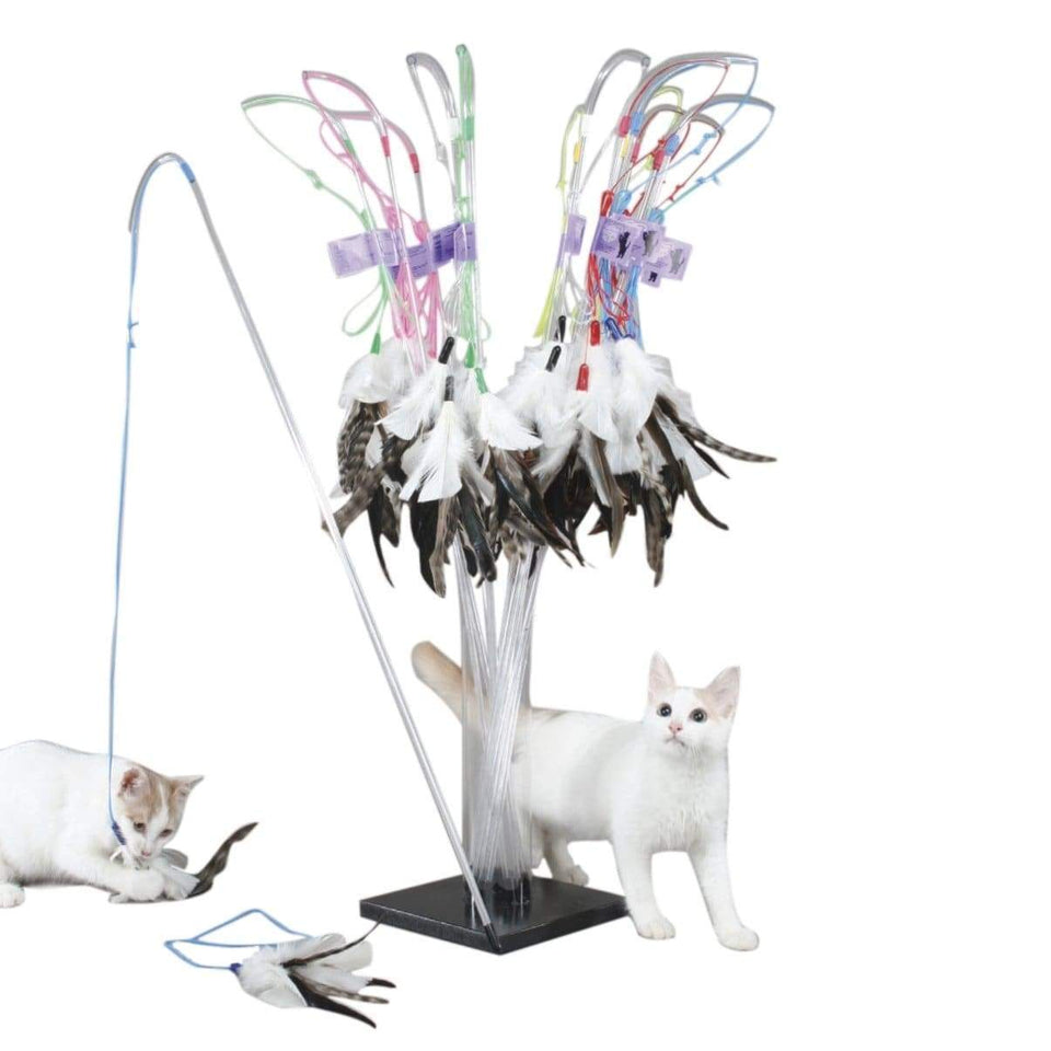PURRfect Feather Cat Toy - With Extra Attachment