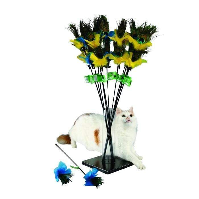 PURRfect Peacock Feather Cat Toy - With Extra Attachment