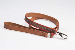 HIGHLAND RED TARTAN DOG LEAD
