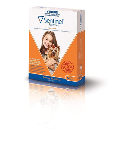 Sentinel Chew Brown Very Small (6 Pack)
