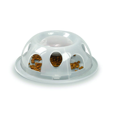 Smartcat Tiger Diner Interactive Slow Cat Bowl - Natural
