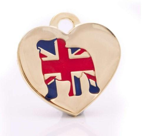 STAFFY HEART PET ID TAG