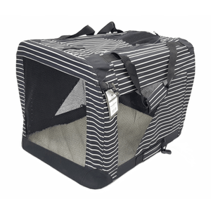 Striped Soft Crate Pet Carrier