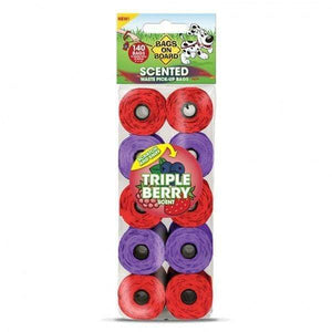 "Triple Berry Scented Refill Pack (140 each 9"" x 14"" bags)"