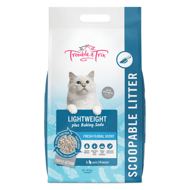 Trouble And Trix Light Weight Baking Soda Clumping Litter