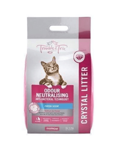 Trouble & Trix AntiBacterial Odour-Neutralising Fresh Scent Crystal Cat Litter