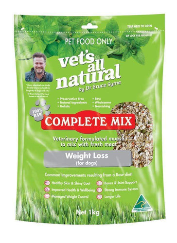 Vets All Natural Complete Mix 1 kg Weight Loss
