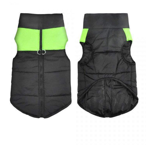 WATERPROOF DOG JACKET - GREEN EXTRA LARGE