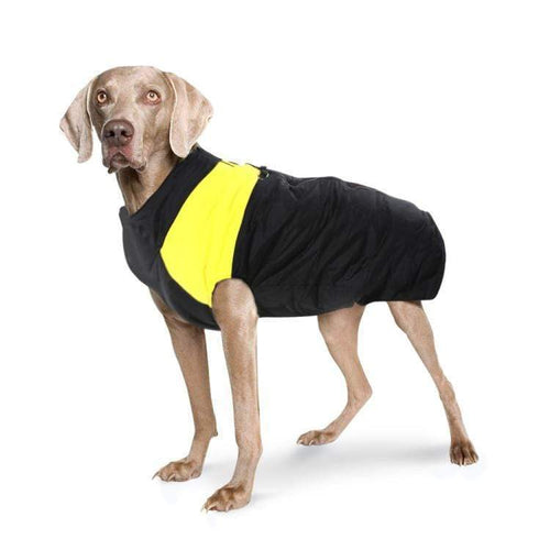 WATERPROOF DOG JACKET - YELLOW LARGE