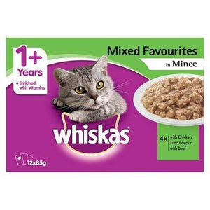 Whiskas Favourites Mixed Selection With Mince 12x85g