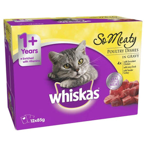 Whiskas Oh So Meaty Meat Variety 12x85g