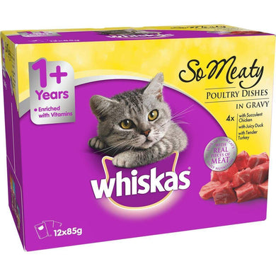 Whiskas Oh So Meaty Poultry Variety - 12x85g