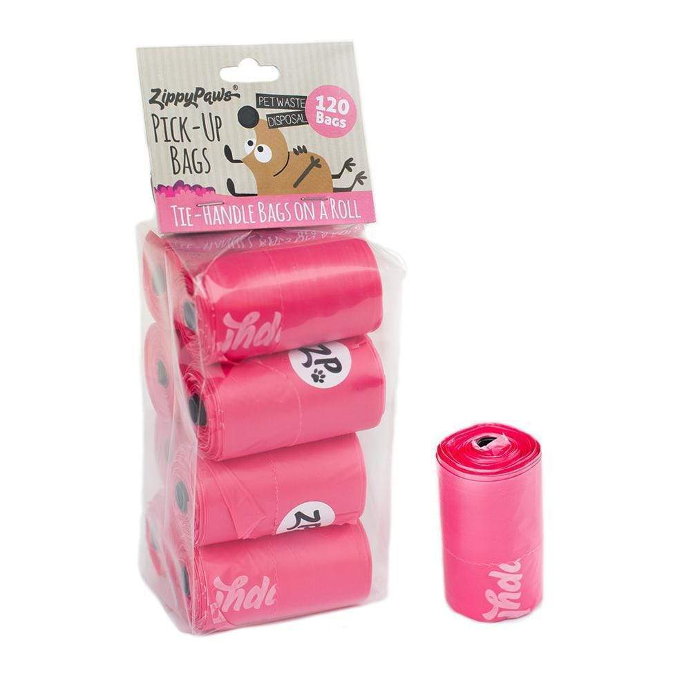 Zippy Pick-Up Bags on Roll-Pink 120ct