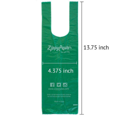 Zippy Pick-Up Bags on Roll-Green 120ct