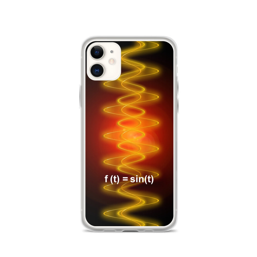 iPhone Case - Radiant Sine Wave Red-Org