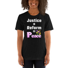 Load image into Gallery viewer, 'Justice + Reform' - Unisex Premium T-Shirt