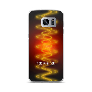 Samsung Case - Radiant Sine Wave Red-Org