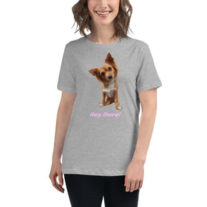 'Hey there puppy' Women's Relaxed Tee