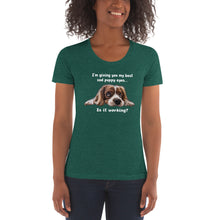 Load image into Gallery viewer, 'Sad Puppy' Women's Crew Neck T-shirt