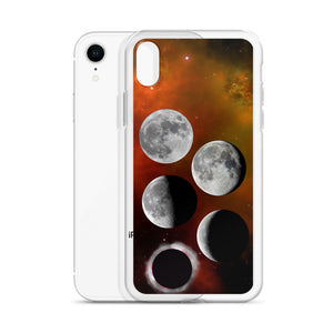 iPhone Case - Lunar Phases on Nebula