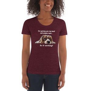 'Sad Puppy' Women's Crew Neck T-shirt