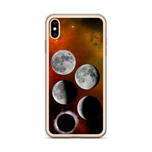 Load image into Gallery viewer, iPhone Case - Lunar Phases on Nebula
