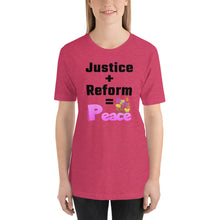 Load image into Gallery viewer, 'Justice + Reform' - Unisex T-Shirt