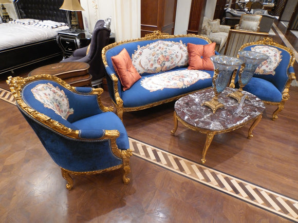JKSF020  Sofa Set (3+1+1+3Table)