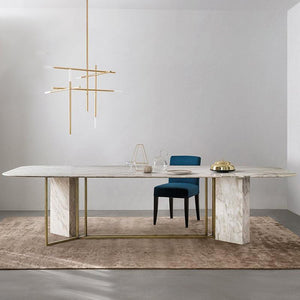 C1216 - DT813 Dining Table Set #GOLD