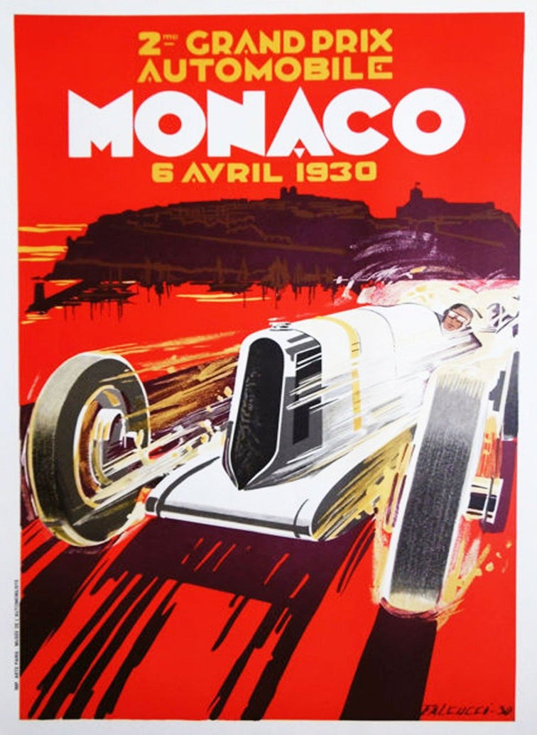 1930 Monaco Grand Prix - Printed Originals