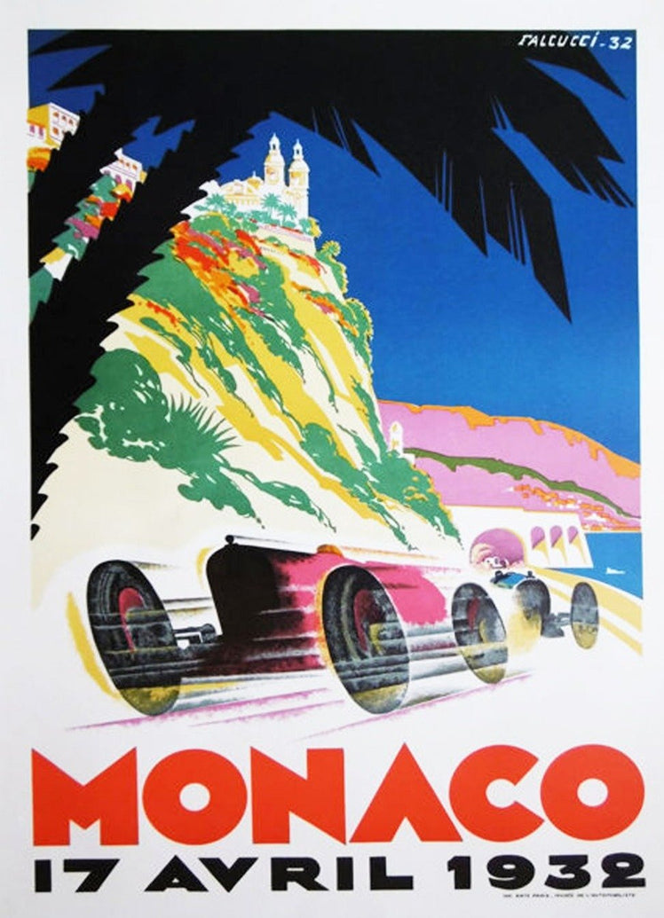 1932 Monaco Grand Prix - Printed Originals