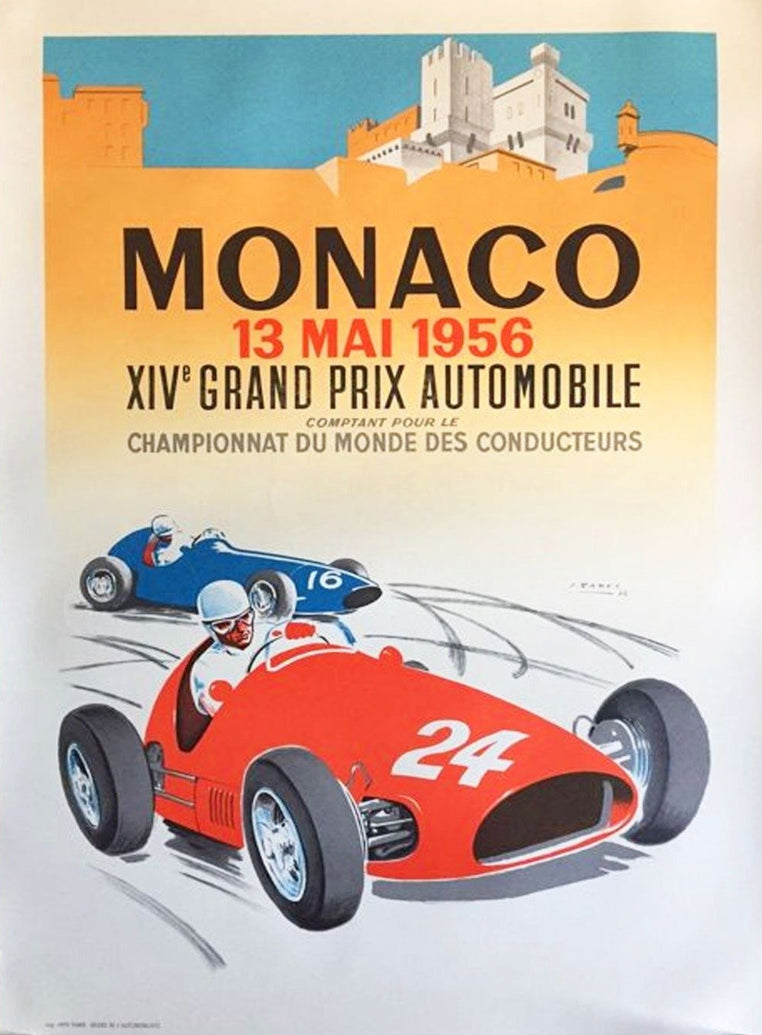 1956 Monaco Grand Prix - Printed Originals