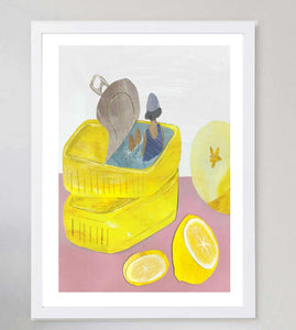 Swimming In Sardines Limited Art Print